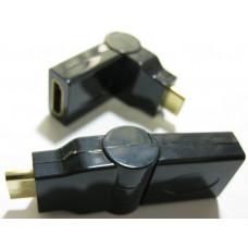 Переходник HDMI мама - мини HDMI папа поворот на 90 гр