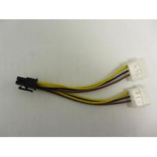 Переходник дополнительного питания видеокарты 2xMolex - 6 Pin