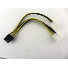 Переходник дополнительного питания видеокарты 2xMolex - 8 Pin