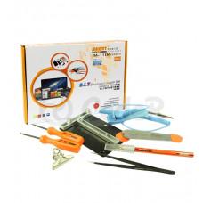 Набор инструментов JM-1102: держатель платы, отвертки, пинцет, нож-скальпель, роликовый ин