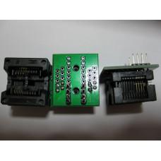 переходник SOP8 на DIP8 Mil200 (25 серия) 1,27 на 5,27 мм