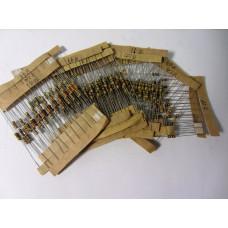 Набор 0,25 Вт резисторов 200 - 4.3K Ом 25 номиналов по 10шт 250шт