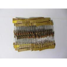 Набор 0,25 Вт резисторов 4.7K-68K Ом 25 номиналов по 10 шт 250 шт