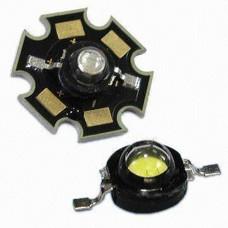 Светодиод 3W теплый белый с подложкой