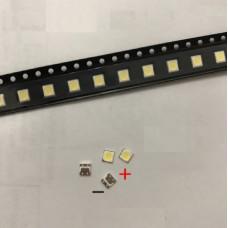Светодиоды LED 6 вольт на LG 2 вт размер  3535 (большая площадка - анод()