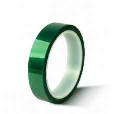Скотч каптон термостойкий прозрачно-зеленый 20мм 33м