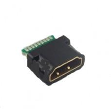 Гнездо HDMI  под пайку