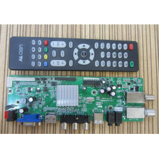 Скалер монитора универсальный GSD63SIT0-V1.1  DVB-T2 DVB-S2