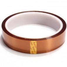Скотч каптон термостойкий прозрачно-желтый 30 мм 33м