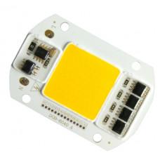 Светодиод 50W  белый с подложкой и драйвером DOB-6040A