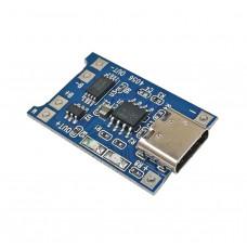 Контроллер для зарядки TP4056 литий-ионных батарей, USB TypeC 1A Li-ion с защитой