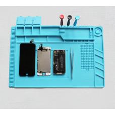 Силиконовый коврик для ремонта телефонов S-160 450*300 мм