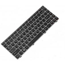 Клавиатура для ноутбука LENOVO (Z450, Z460, Z460A, Z460G) rus, black, gray frame 25-010886